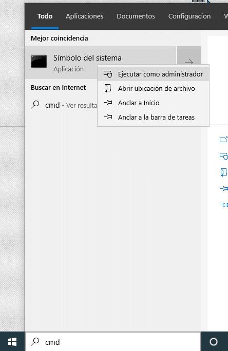 Terminal de Windows modo administrador