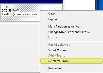 delete volume