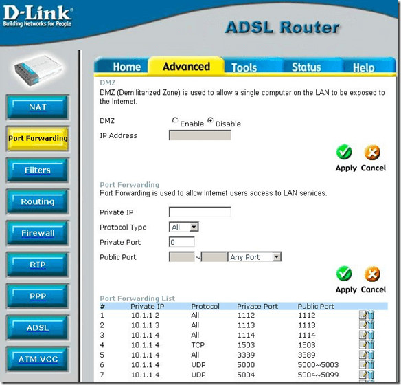 dlink port forwarding