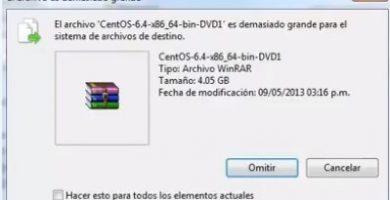 el archivo es demasiado grande para el sistema de archivo