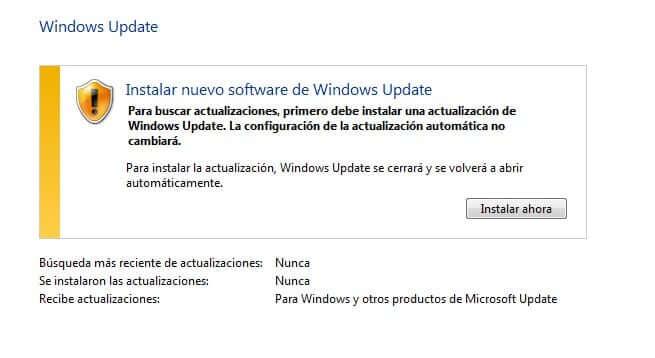 Instalar nuevo software de Windows Update