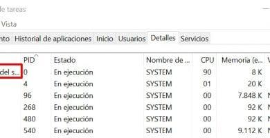 proceso inactivo del sistema en windows 10