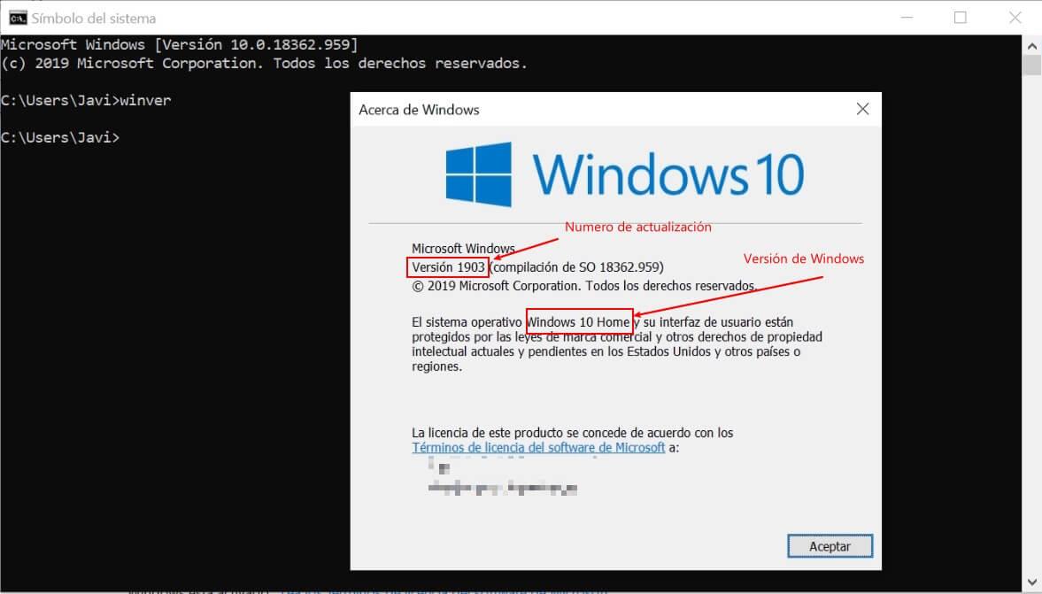 saber numero de actualización de windows