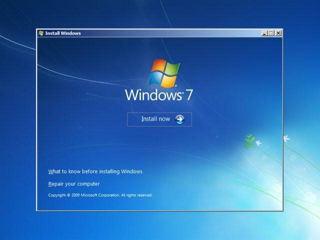 How to install windows 7 operating system