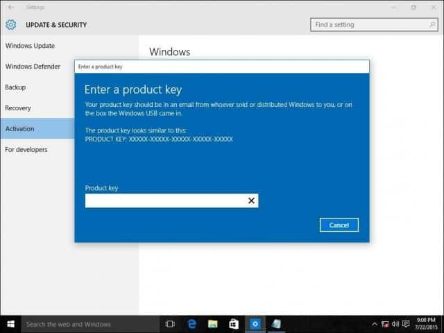 Upgrading Windows Home to Windows 10 Pro