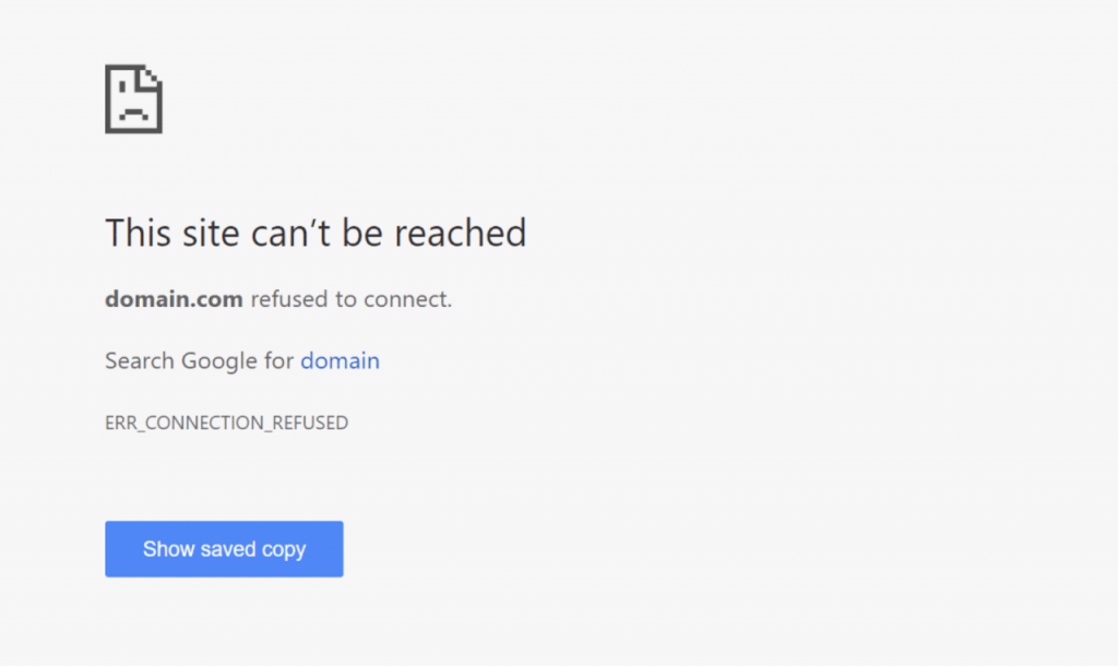 what is err connection refused error