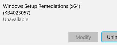 Windows remediation bit version