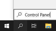 search Control Panel