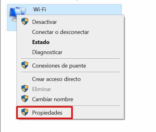 propiedades del adaptador de red