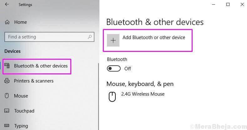 Añadir Bluetooth u otros dispositivos