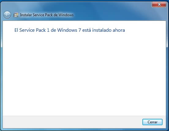 el service pack para windows está actualizado