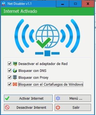 net disabler internet activado